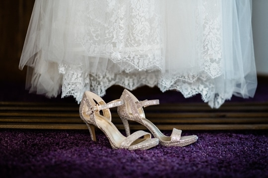 What Shoes To Wear With Lace Wedding Dresses Wayfaring Weddings