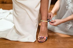 What Shoes to Wear with Ivory Wedding Dresses